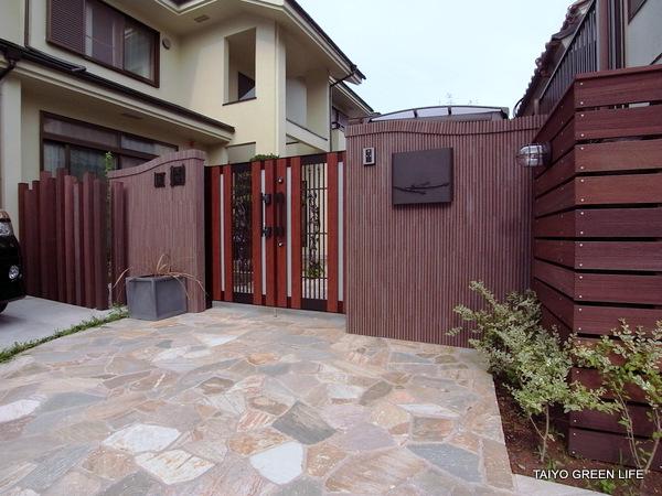 和庭園とシックな洋風クローズ外構 町田市